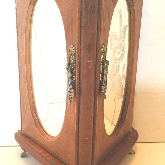 641e9a812 London Leather Jewelry   Stand Up Box Glass And Wood   Poshmark